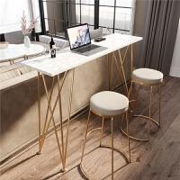 北欧吧台桌椅轻奢简约家用茶水桌高脚桌咖啡厅吧台桌椅创意长条桌 组装 框架结构