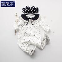 婴儿连体衣服宝宝新生儿哈衣01岁3个月春装潮服睡衣2季新年