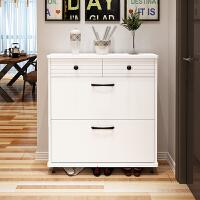 进门超薄翻斗鞋柜17cm简约现代多功能烤漆门厅柜小户型储物柜 组装