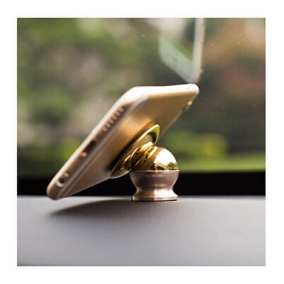 车载手机支架磁性仪表台通用多功能吸盘式汽车支架底座 商务金 车载手机支架创意磁性汽车仪表台苹果通用粘贴式磁铁手机架吸力强劲汽车上的架子