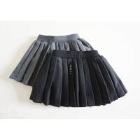 灰常校园风的百褶短裙 女宝宝秋冬A字裙 毛呢短裙 穿上很潮哦~