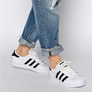 Adidas/阿迪达斯三叶草经典贝壳头休闲运动板鞋男女情侣鞋