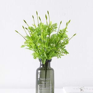 奇居良品 手感仿真绿色植物把束花束装饰花卉 五叉薰衣草