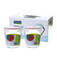 三光云彩GLASSLOCK玻璃饭盒可微波保鲜盒礼盒套装两件套GL43