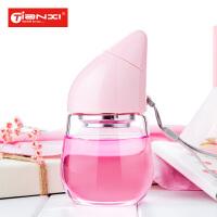 天喜玻璃杯便携创意可爱泡茶杯学生女耐热水杯时尚过滤带盖杯子