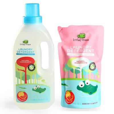 英国品牌小树苗婴儿葡萄柚多效倍护宝宝洗衣液1050ml+补充装500ml