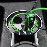 汽车点烟器一拖二三带USB一分三车充车载电源分配器