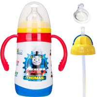 【当当自营】 托马斯和朋友 儿童鸭嘴杯保温奶瓶训练水壶带手柄 300ml红色 一杯三用 FU-15-5121TM