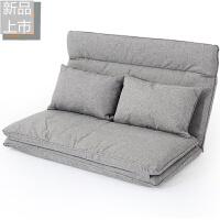 日式懒人沙发榻榻米折叠小户型单双人沙发床无腿地板沙发简易床定制