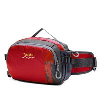户外腰包多功能运动单肩斜跨水壶腰包男女防水登山旅行小包 红色