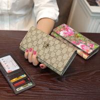 欧美皮长款钱包女士时尚牛皮搭扣卡包大容量钱夹潮新款