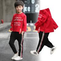 儿童两件套中大童套头卫衣韩版男童套装春款春秋季装童装