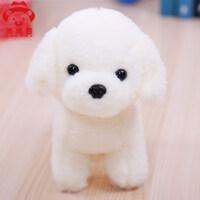毛绒白色玩具狗狗可爱儿童小泰迪布娃娃公仔玩偶生日礼物女生大号