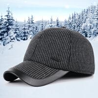 新款男士运动棒球帽秋冬季中老年户外休闲保暖护耳鸭舌帽子