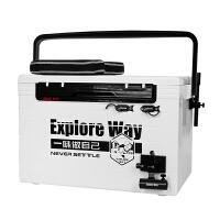 钓箱28L升降脚加厚插片式多功能可坐钓鱼箱鱼桶配件坐垫渔具