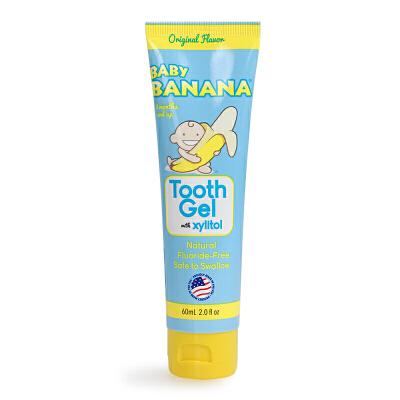 美国Baby Banana香蕉宝宝天然木糖醇可吞咽护齿牙膏 原味 60ml