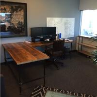 实木转角电脑桌台式办公桌型拐角书桌用墙角写字台卧室省空间