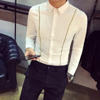 港风衬衫男长袖修身 韩版 潮流帅气春季新款发型师衬衣青少年
