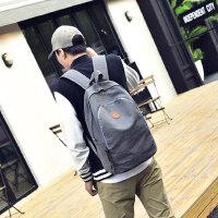 韩版双肩包男女休闲帆布包大容量旅行背包学生书包电脑包