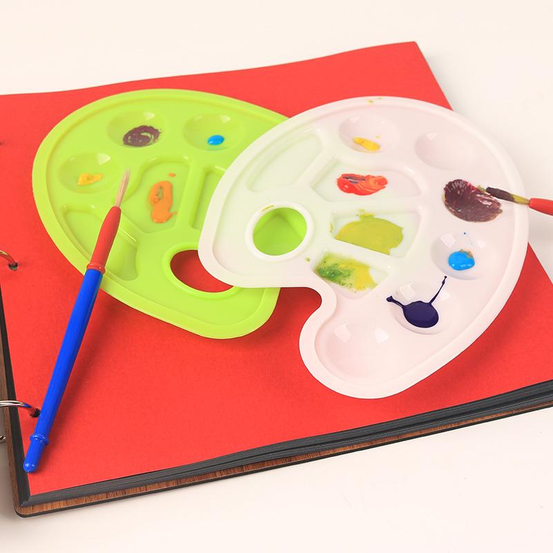 幼儿园儿童画画绘画美术多功能颜料调色盘水粉涂鸦配件ef25522