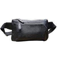 男包 男士腰包新款背包斜跨小包休闲包斜挎韩版胸包手机小包 黑色