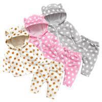 婴儿童装0岁3个月1宝宝冬装2潮款童加绒2T恤套装春冬季新年