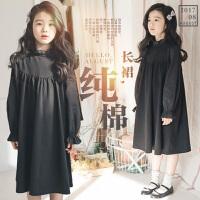 女童长袖连衣裙2017秋季新款韩版童装中大儿童纯棉公主裙女孩长裙