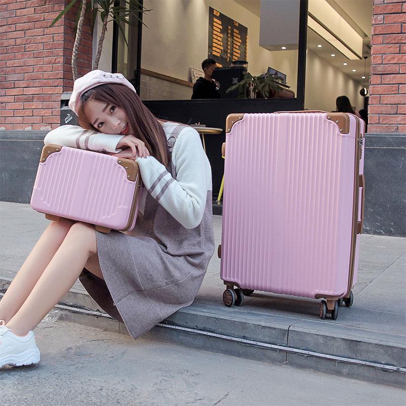 行李箱万向轮24寸28寸拉杆箱女韩版复古大容量20寸登机箱母子男旅行箱 母子套 发货周期:一般在付款后2-90天左右发货,具体发货时间请以与客服协商的时间为准