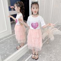 【2件3折价:51.9】女童半身裙春装2021夏款季洋气儿童网纱裙子中大童仙女蛋糕裙