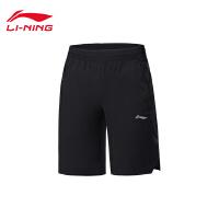 李宁运动短裤男士训练系列裤子男装夏季梭织运动裤AKSP073