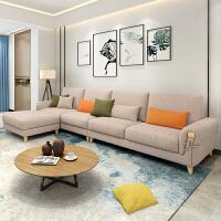 北欧沙发现代简约风格乳胶布艺沙发小户型客厅整装转角实木沙发