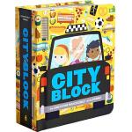 Cityblock 城市 英文原版 绘本纸板书 儿童色彩趣味认知精装 镂空设计异型书