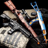 98k狙击吃鸡武器玩具手枪机械枪ak47拼装男孩连发抢兼容 乐高积木