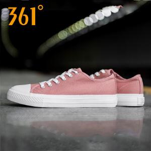 361度帆布鞋女鞋运动鞋2018秋季新款耐磨透气百搭硫化休闲鞋单鞋