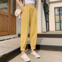 薄款奶奶阔腿运动裤子女夏季新款宽松休闲灯笼裤女裤