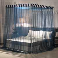 现代吊带落地式蚊帐三开门通用支架夏季1.5m宫廷1.8m床家用公主风