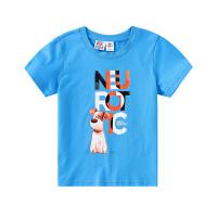 【2件3折到手价:54】小猪班纳童装男童短袖t恤2020夏季新款圆领纯棉体恤儿童打底衫