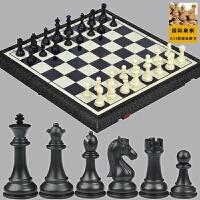 先行者磁性国际象棋套装折叠棋盘成人儿童大号比赛专用黑白送双后