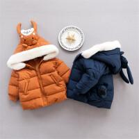 婴儿冬季上衣新生满月周岁宝宝加厚冬天外出服拉链01-2岁衣服新款