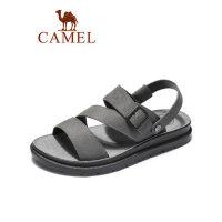 camel骆驼男鞋2019夏季新品休闲商务牛皮凉鞋休闲两穿减震凉拖鞋