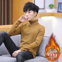 高领毛衣男新款韩版宽松潮青年针织打底衫男士线衣外套