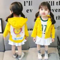 女童秋装外套韩版0洋气小童1时髦连帽潮衣2女宝宝衣服4岁