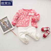 婴儿连体衣服宝宝新生儿哈衣0岁新生儿满月5棉外出服8季