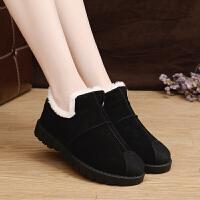 卡帝乐鳄鱼冬季棉鞋加厚鞋保暖鞋韩版日系休闲鞋低帮短靴运动女鞋