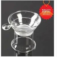 功夫茶具玻璃茶漏 茶滤透明公道杯 滤茶器过滤网茶道配件特价