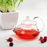 耐热玻璃花茶壶大容量创意玻璃高把压盖茶壶功夫茶具套装玻璃茶具650ML凉杯茶壶家用瓶耐热水杯 杯子