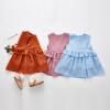 女童洋气棉麻连衣裙装女宝宝公主裙子儿童4夏装6小女孩1衣服3-5岁