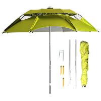 钓鱼伞万向雨伞三折休闲双层垂钓伞防雨防晒\伞通风伞渔具垂钓用品