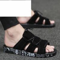 潮牌男鞋夏季拖鞋男一字拖个性韩版潮托室外沙滩凉鞋防滑人字拖凉拖鞋