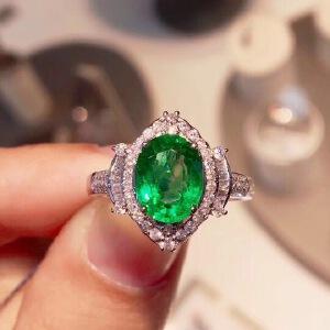 纯天然哥伦比亚祖母绿戒指2
